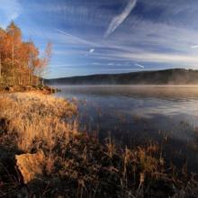 Ráno u přehrady, autor: Radek Štrupl